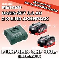 Metabo Basis-Set 8.0 Ah LiHD 2x Akkupack